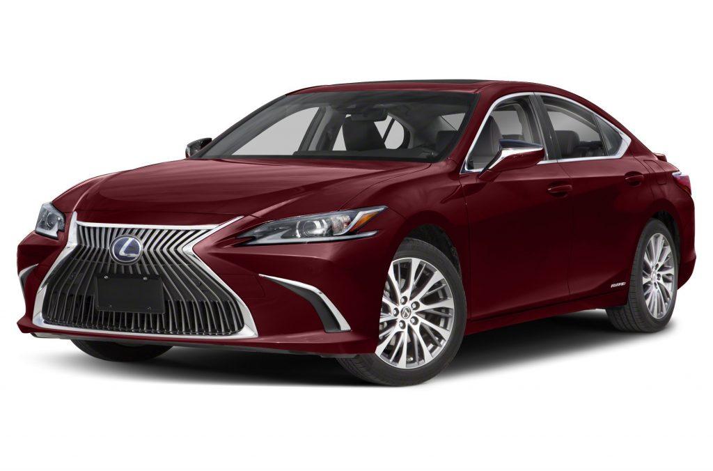 A red Lexus